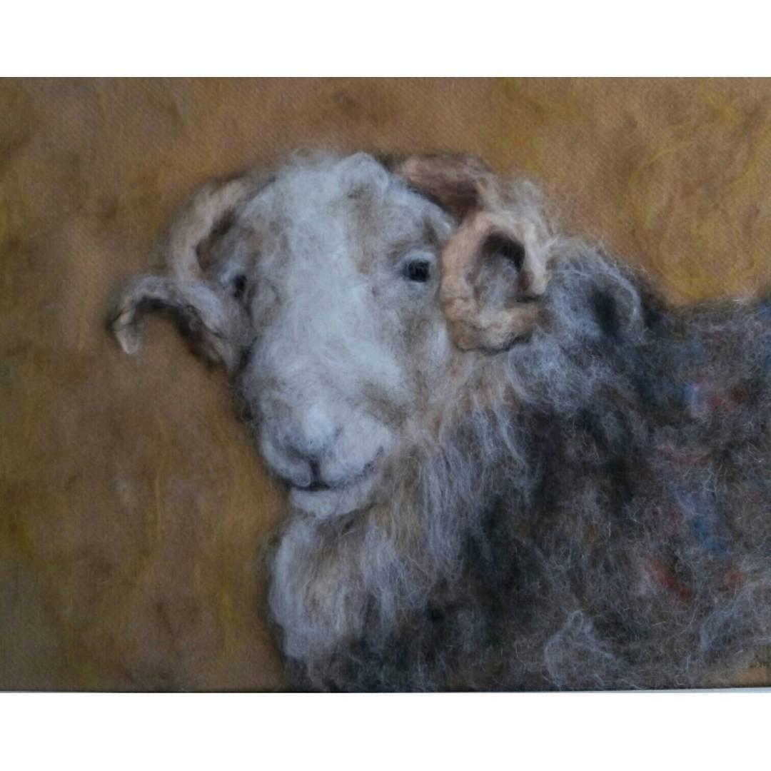 Herdwick Ram #sheepdrovefarm #felt #sheep #art