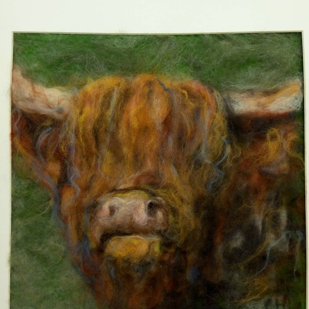 Highland Cow  #highlandcow #cow #original #feltart