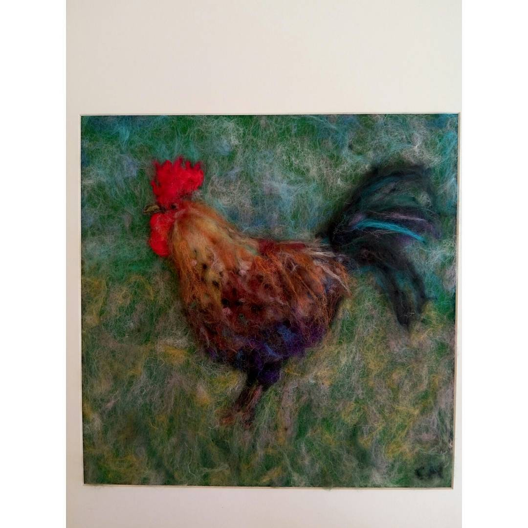 #cockerel #chicken #3d artwork exhibited in aid of Lambourn #rda