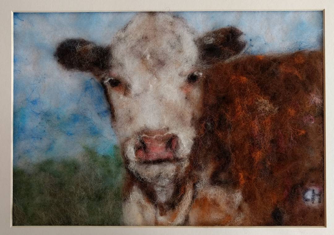 """Thank you so much for making this Hereford cow for my ex mother in law!"" Marie"