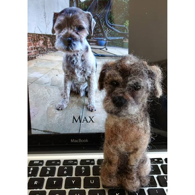"Max: A gift for a friend ""OMG brilliant! She will love it!"" Rhian  #dog #dogs #needlefelt"